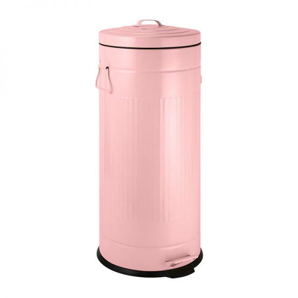 Pedaalemmer retro look - roze - 30 liter - Xenos