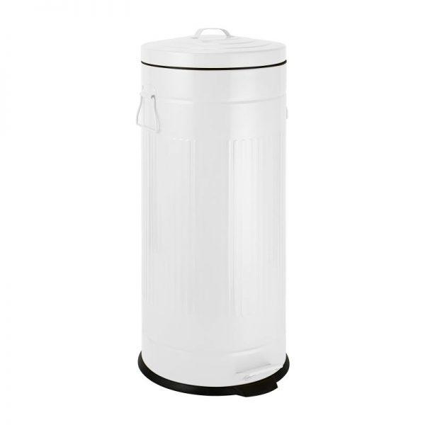 Pedaalemmer retro look - wit - 30 liter - Xenos