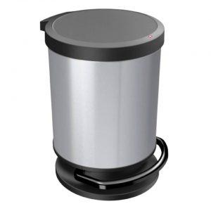 Rotho Paso pedaalemmer - 20 liter - silver metallic