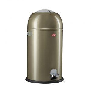 Wesco Kickmaster prullenbak - 33 liter - zilver
