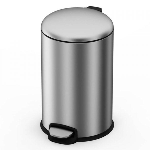 4cookz® Texas pedaal prullenbak 20L mat RVS - ultra soft-close