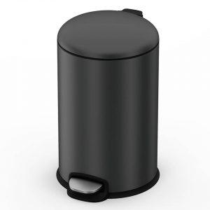 4cookz® Texas pedaal prullenbak 20L mat grijs- ultra soft-close
