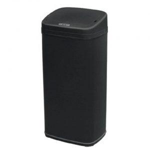 4cookz Clever Square Black sensor prullenbak - 30 liter - zwart
