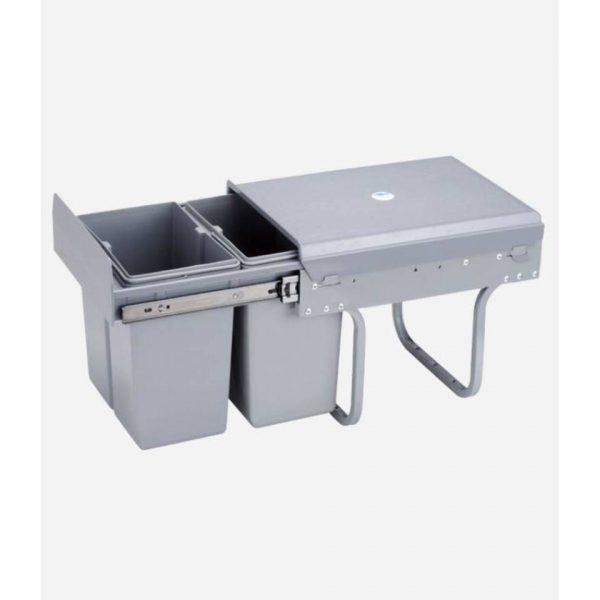 4cookz Duo inbouw afvalbak - 2x 20 liter - geschikt voor 40cm inbouw