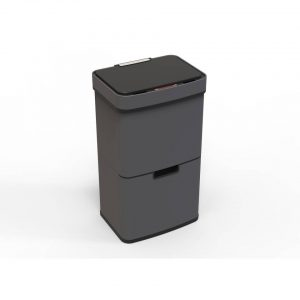 4cookz Smart Waste Black M afvalscheidingsprullenbak met sensor 72 L