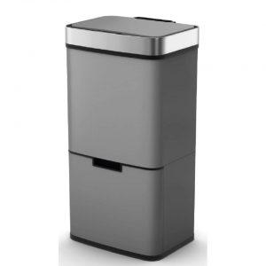 4cookz Smart Waste Grey Afvalscheidingsprullenbak met sensor 72 liter