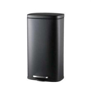 Pedaalemmer prullenbak Paco - zwart metaal - 30 liter - 63