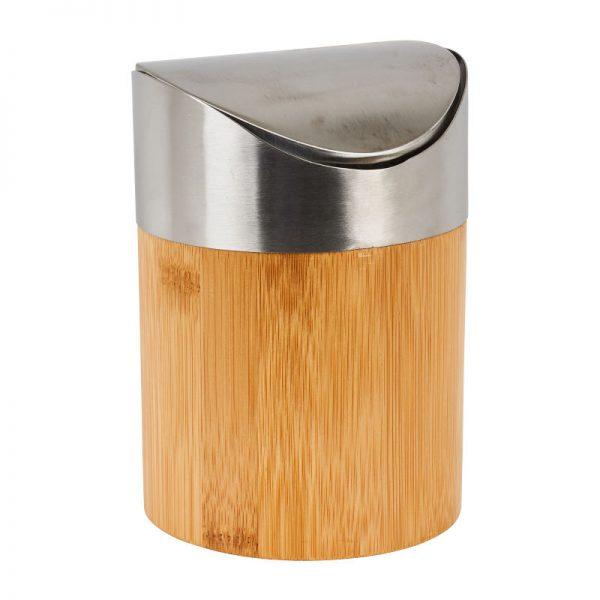 Afvalbakje - bamboe - ø12x16 cm - Xenos
