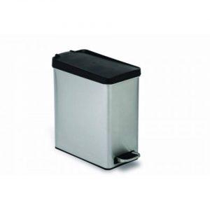 Afvalemmer profile 10 liter - rvs met kunststof deksel - simplehuman