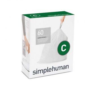 Afvalzakken Code C 10-30 liter Pocket Liners Set van 3x20 Stuks - Simplehuman
