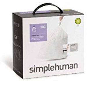Afvalzakken Code G 30 liter Pocket Liners Set van 5x20 Stuks - Simplehuman