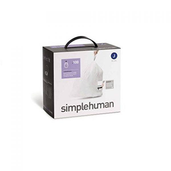 Afvalzakken Code J 38-40 liter Pocket Liners Set van 5x20 Stuks - Simplehuman