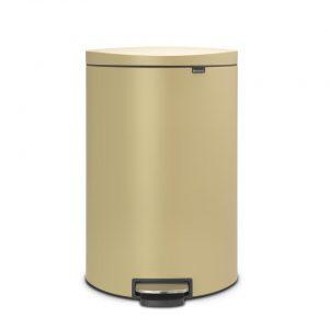 Brabantia FlatBack+ pedaalemmer - soft close - 40 liter - mineral golden beach