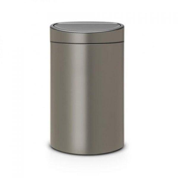 Brabantia Touch Bin Recycle prullenbak - 10 + 23 l - Platinum