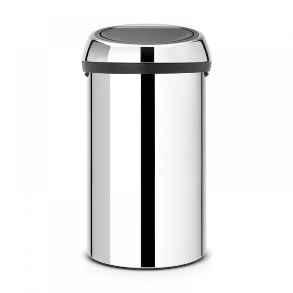 Brabantia Touch Bin XXL afvalverzamelaar - 60 l - Brilliant Steel