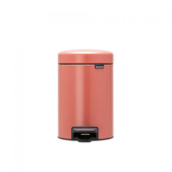 Brabantia newIcon pedaalemmer 3 liter met kunststof binnenemmer - Terracotta Pink