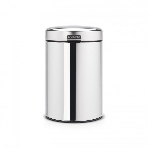 Brabantia newIcon wandafvalemmer - 3 l - Brilliant Steel