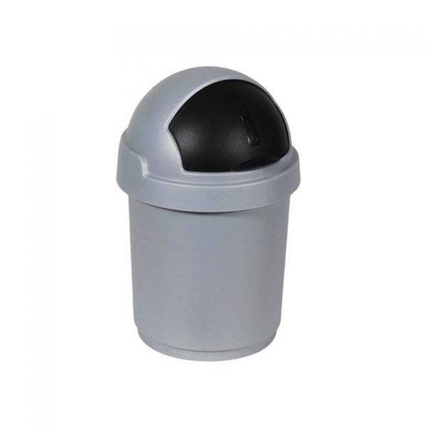 Curver - Roll Bullet bin 10L zilver/antraciet