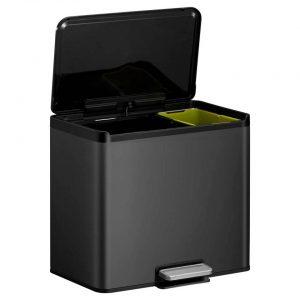 EKO Essential Recycler pedaalemmer afvalscheider - 20 + 9L - zwart