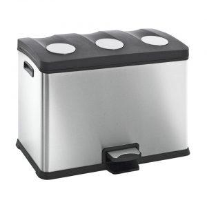 EKO Rejoice pedaalemmer afvalscheider - 3 x 12L - mat RVS