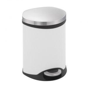 EKO Schelpvormige pedaalemmer - 6 l - wit