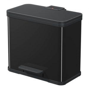 Hailo Öko duo Plus afvalscheider - maat L - 17 + 9 liter - zwart