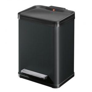 Hailo Öko duo Plus afvalscheider - maat M - 2 x 9 liter - zwart