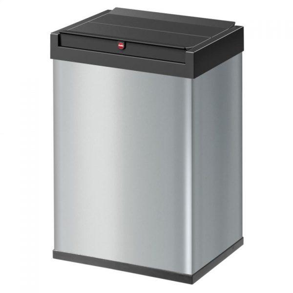 Hailo Big-Box Swing afvalbak - maat L - 35 liter - zilver