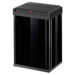 Hailo Big-Box Swing afvalbak - maat L - 35 liter - zwart