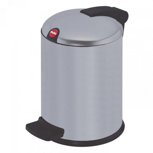 Hailo Design pedaalemmer - maat S - 4 liter - zilver