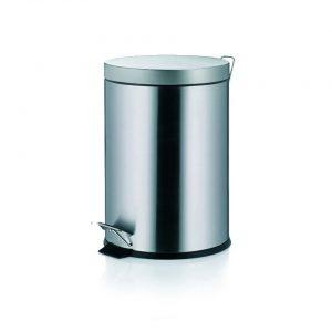 Janos Pedaal Afvalemmer - 5 liter - Zilver - Kela