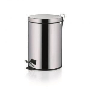 Knut Pedaal Afvalemmer - 5 liter - Zilver - Kela