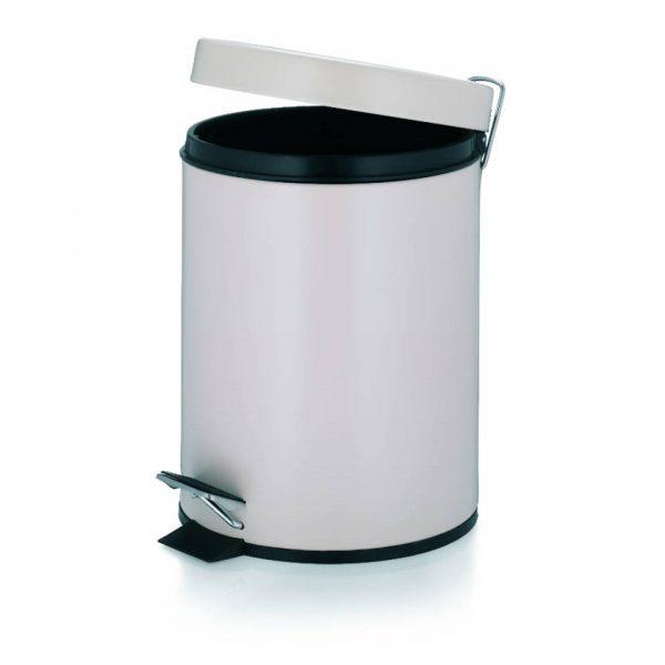 Marino Pedaal Afvalemmer Silent Close - 5 liter - Beige - Kela