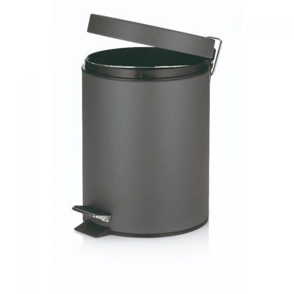 Marino Pedaal Afvalemmer Silent Close - 5 liter - Donker Grijs - Kela