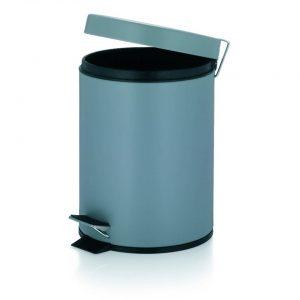 Marino Pedaal Afvalemmer Silent Close - 5 liter - Grijs - Kela