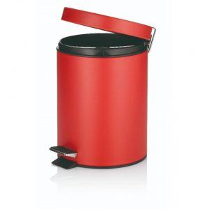 Marino Pedaal Afvalemmer Silent Close - 5 liter - Rood - Kela