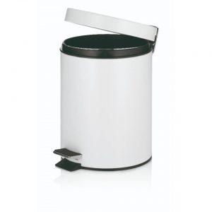 Marino Pedaal Afvalemmer Silent Close - 5 liter - Wit - Kela
