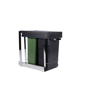 Mo Style duo inbouw afvalbak keukenkast - 2 x 8 liter GFT en restafval - prullenbak / vuilnisbak inbouwsysteem