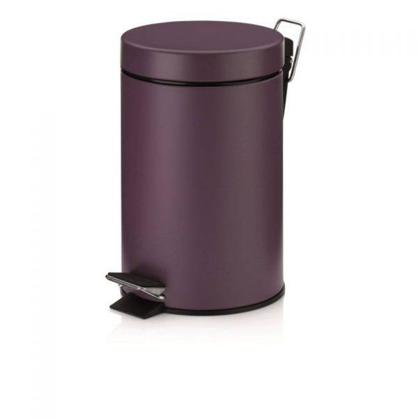 Monaco Pedaal Afvalemmer - 3 liter - Paars - Kela