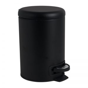 Pedaalemmer metaal - zwart - 17x22x25 cm - Xenos