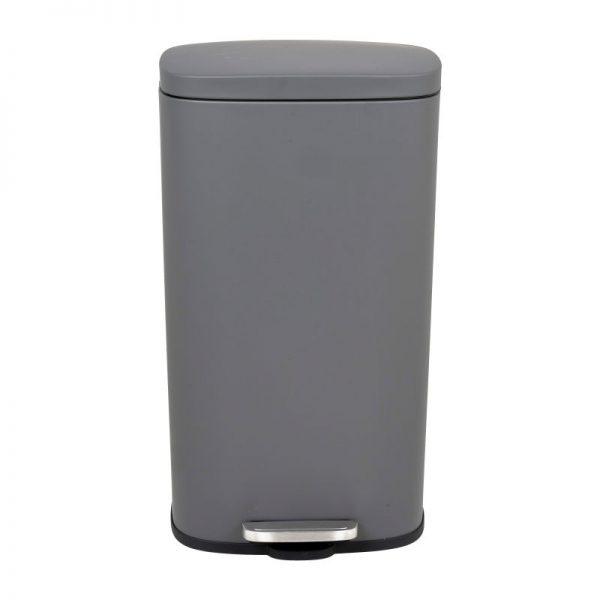 Pedaalemmer rechthoek - mat grijs - 30 liter - Xenos