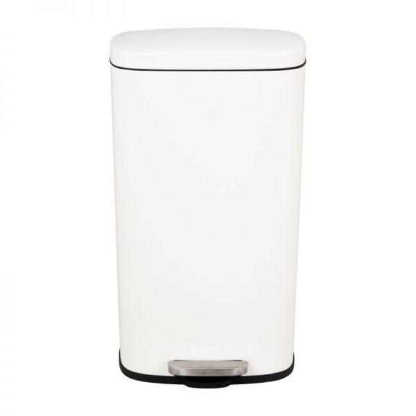 Pedaalemmer rechthoek - mat wit - 30 liter - Xenos