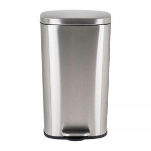 Pedaalemmer rechthoek - zilver - 30 liter - Xenos