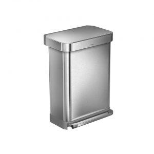 Simplehuman Liner Pocket pedaalemmer - 55 L - RVS