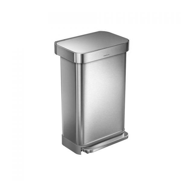 Simplehuman Liner Pocket prullenbak - 45 L - RVS