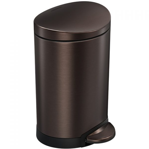 Simplehuman Round Deluxe - brons - 6 l