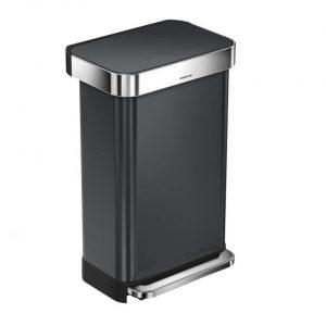 Simplehuman - SH Rectangular Zwart met Liner Pocket 45L