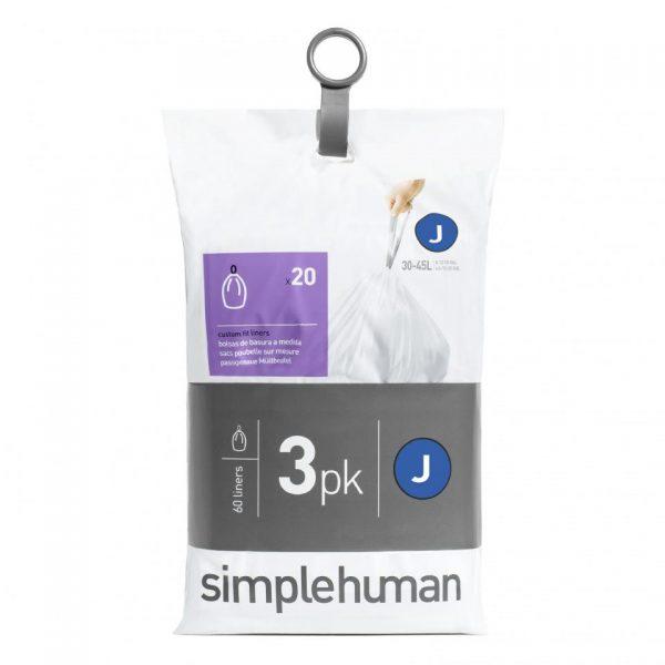 Simplehuman vuilniszakken Code J 38-45 - L - 3 x 20 stuks