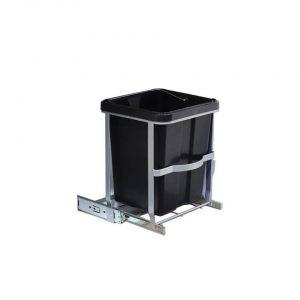 Uitschuifbare keukenkast prullenbak - 14 Liter - Uitneembaar - Opent en sluit vanzelf