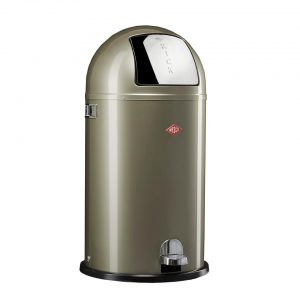 Wesco Kickboy prullenbak - 40 liter - zilver